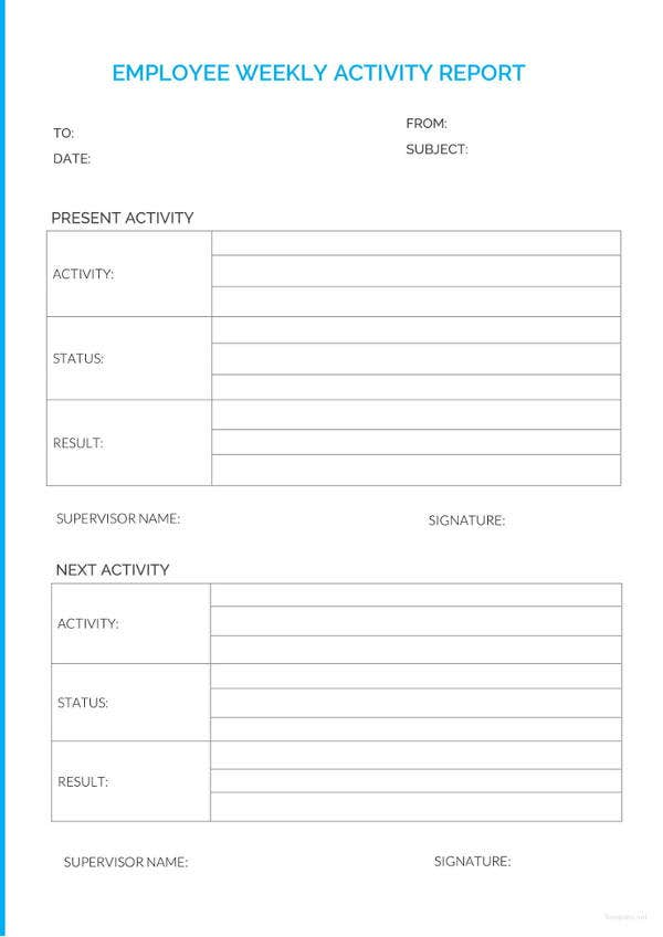 employee weekly report template1