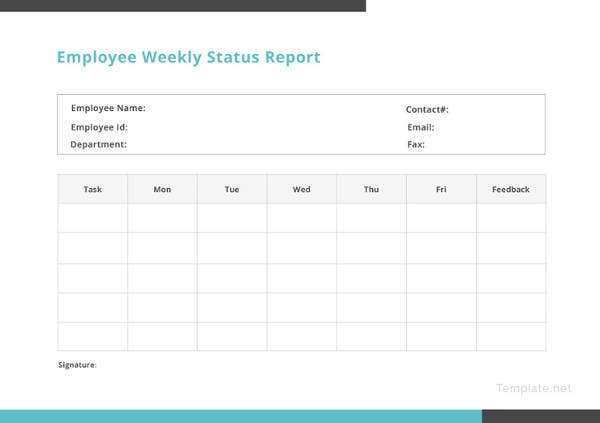 32 free weekly report templates free premium templates