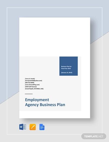 employment agency business plan template