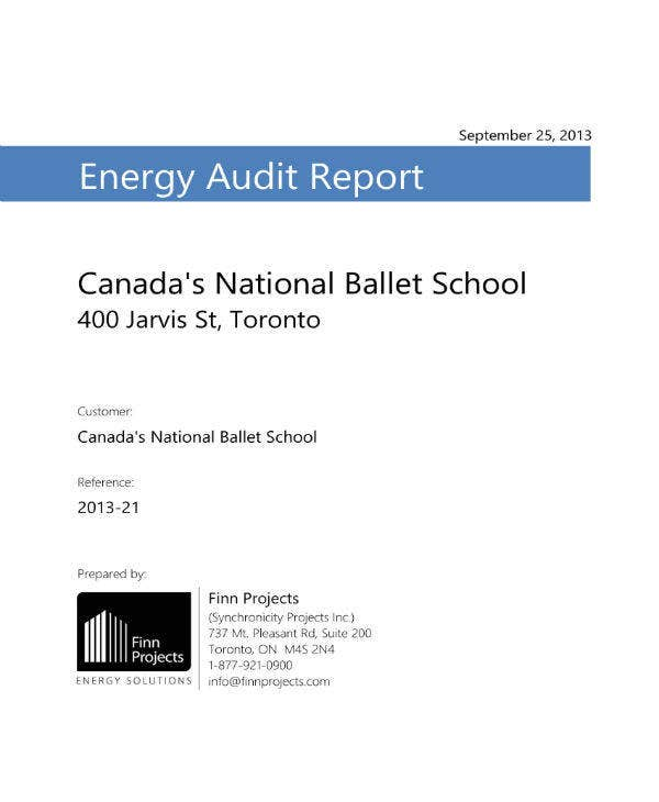 Energy Audit Report of School