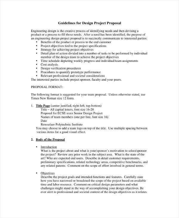 Engineering Project Proposal Guideline