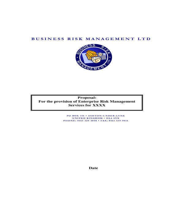 Enterprise Risk Management Proposal