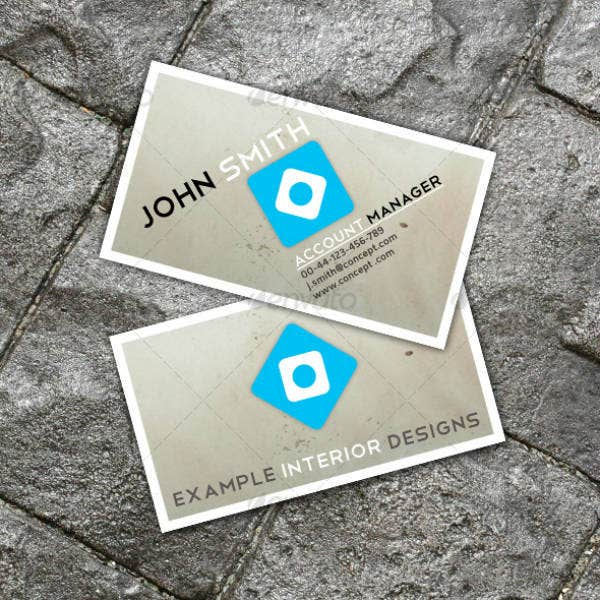 Example of Interior Design Business Card