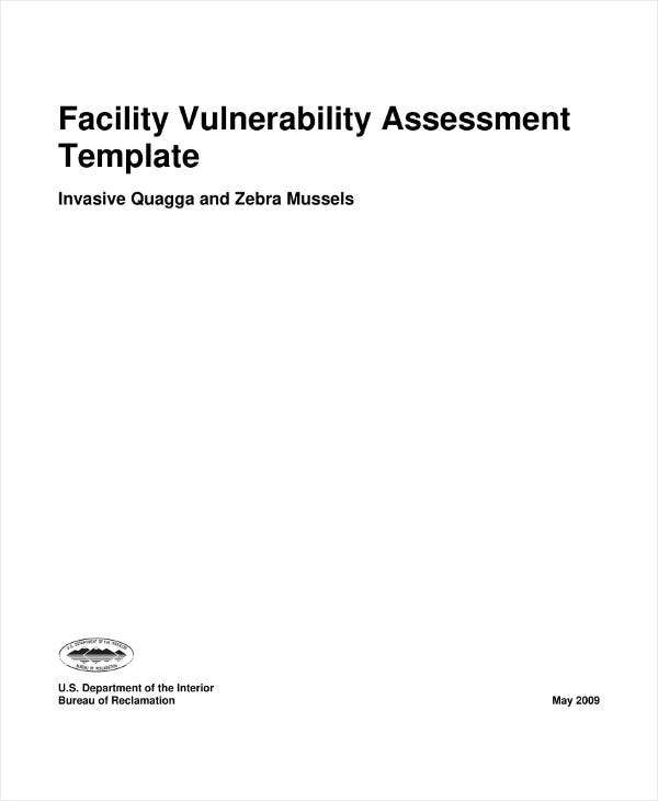 Facility Vulnerability Assessment Template
