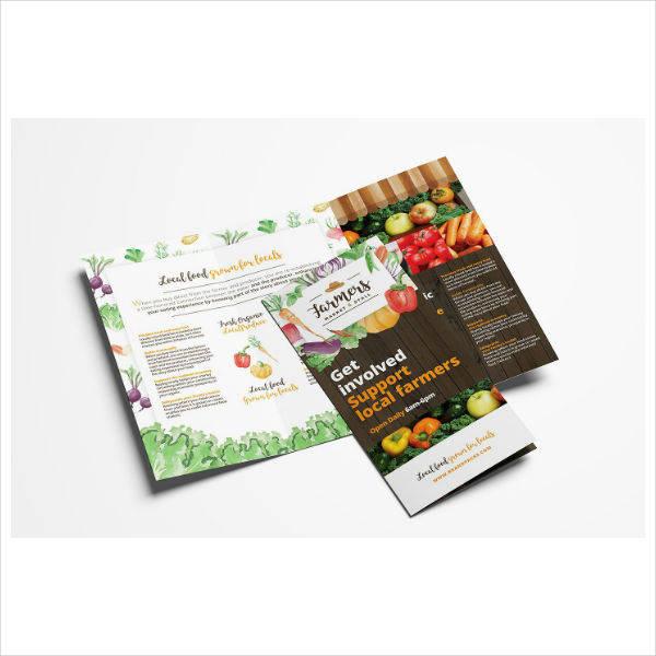 Farmer Market Trifold Brochure
