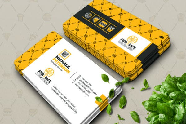 18 Fast Food Business Card Designs Amp Templates Psd Ai