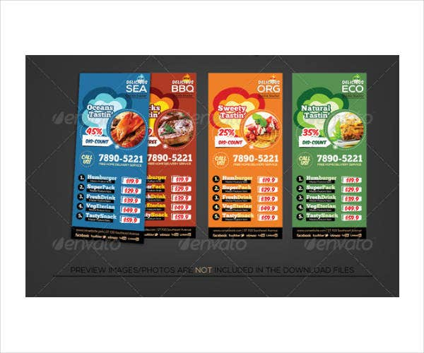 Fast Food Restaurant Rack Card Flyer