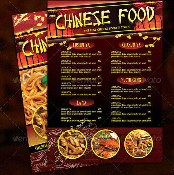 Festive Chinese Menu Template
