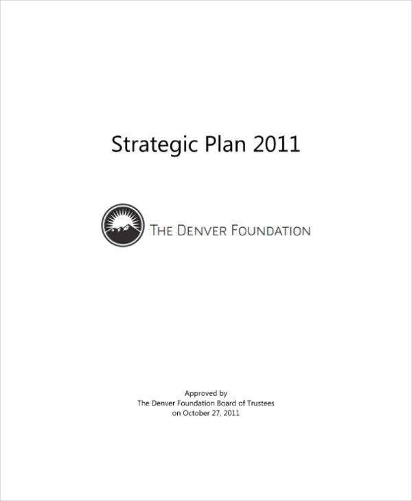 Final Non-Profit Strategic Plan Sample