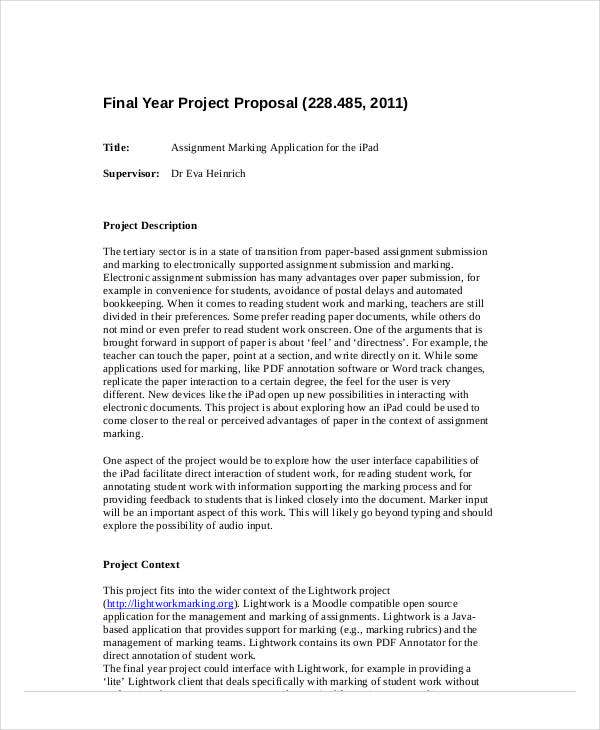 final year project proposal example