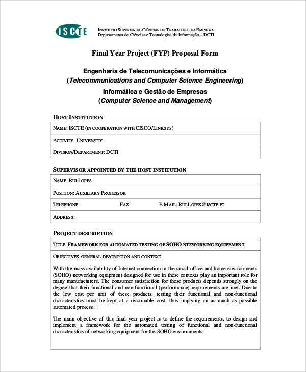 final year project proposal form