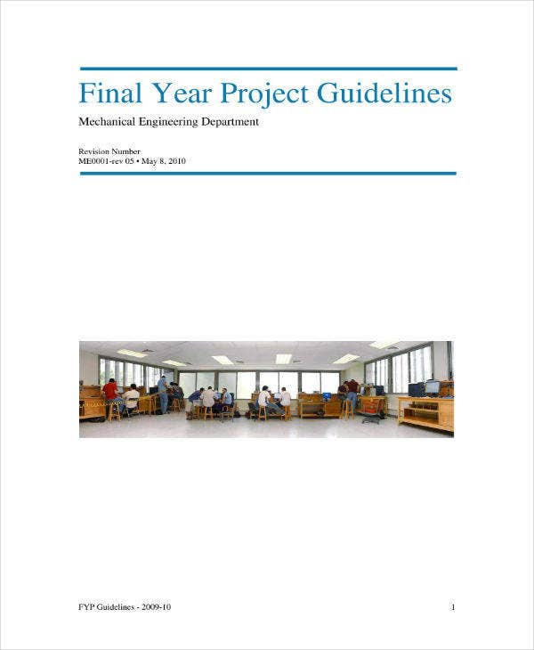 Final Year Project Proposal Guidelines