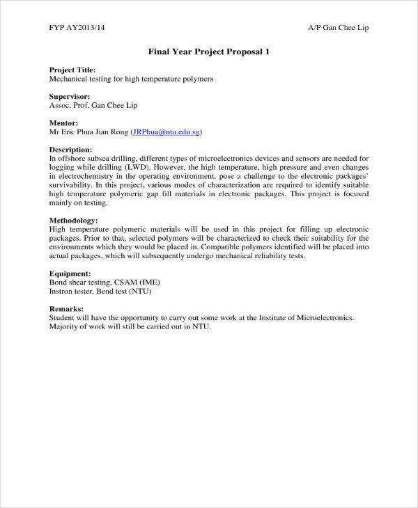 Final Year Project Proposal Template