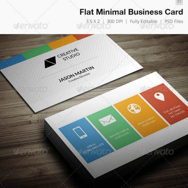 Flat Minimal Business Card Template