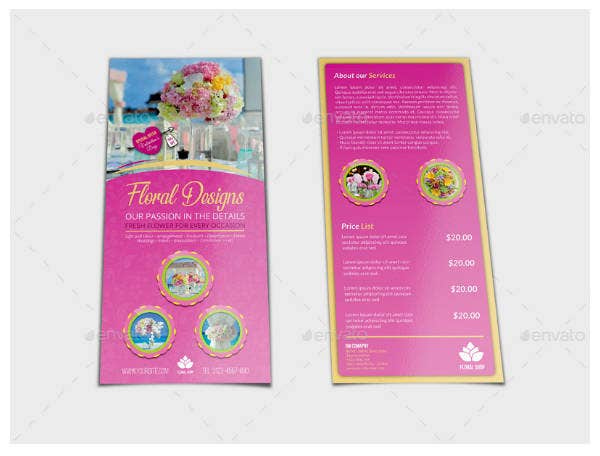 Floral Design DL Flyer Template