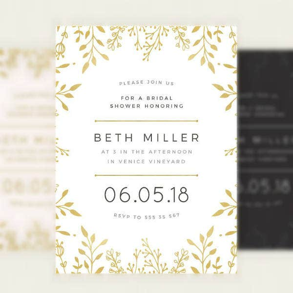 Floral Rustic Bridal Shower Invitation