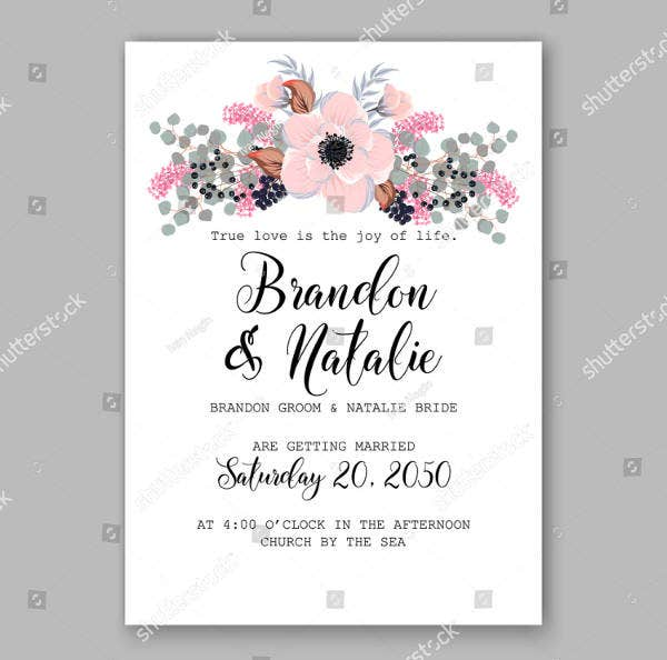 13  rustic bridal shower invitation card designs  u0026 templates