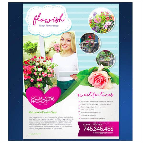 Florist Shop Flyer Design