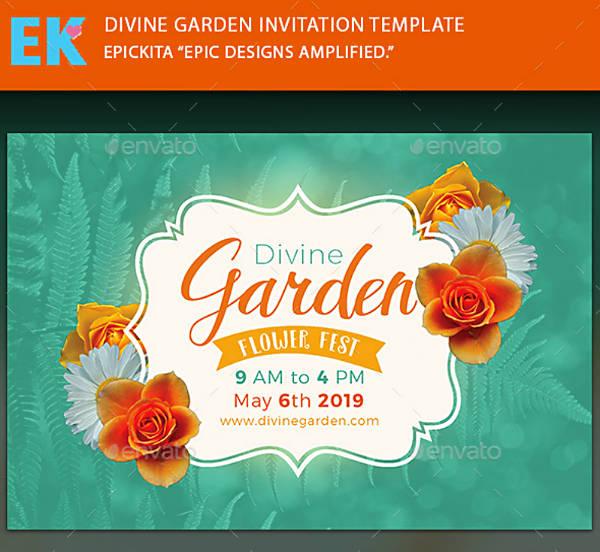 Flower Fest Garden Party Invitation
