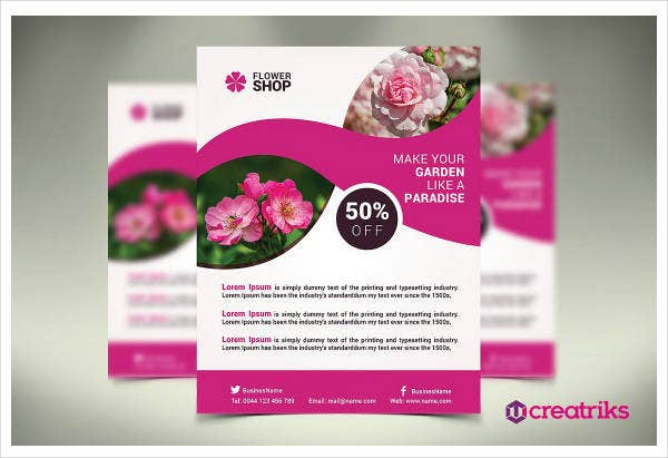 Flower Shop Flyer Example