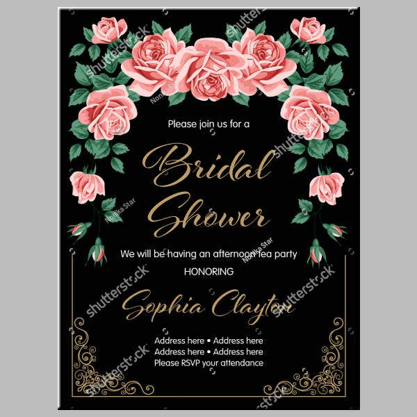 Flowers Modern Bridal Shower Card
