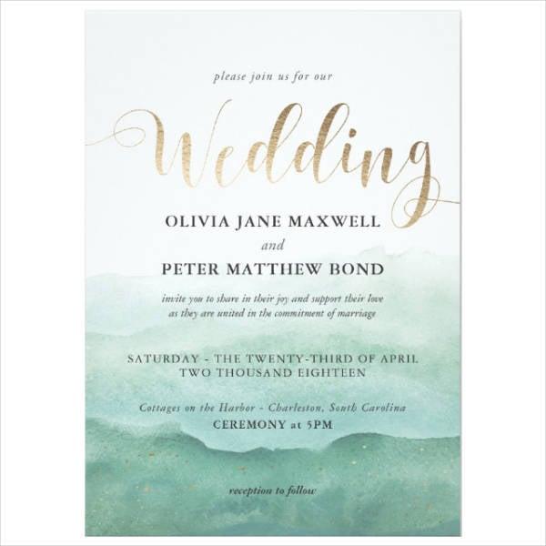 Foil Wedding Invitation Design