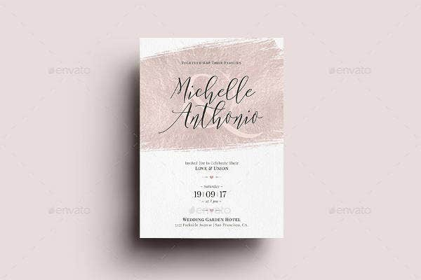 Foil Wedding Invitation Set