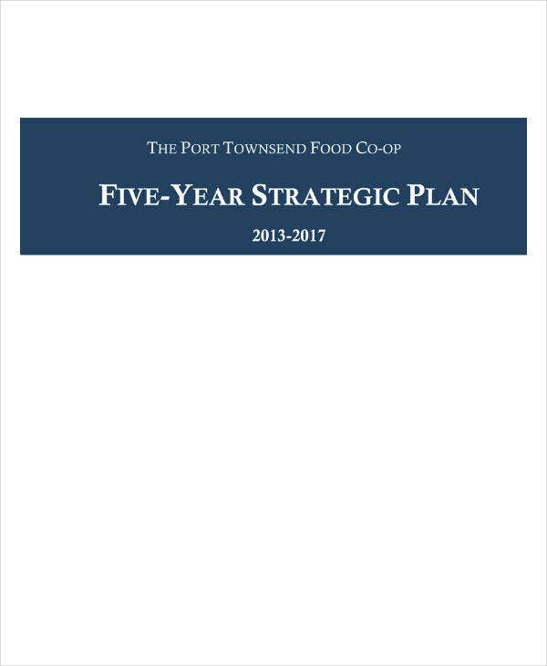 Food Five Year Strategic Plan