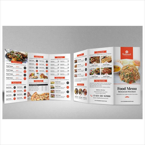 Food Menu Bifold-Trifold Brochure