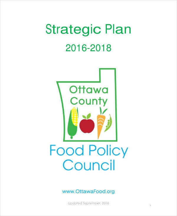 Food Policy Strategic Plan