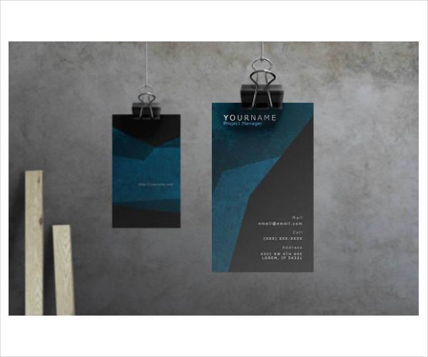 formal modern corporate business card