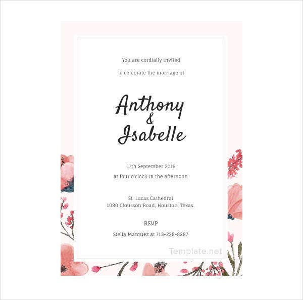 14 Blank Wedding Invitation Designs Templates