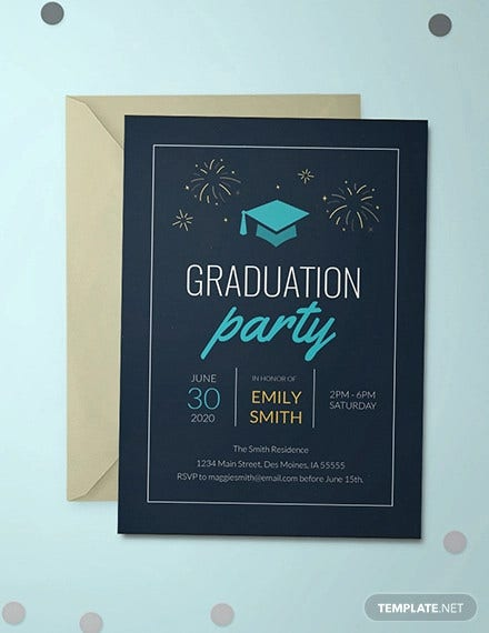 free college graduation invitation template