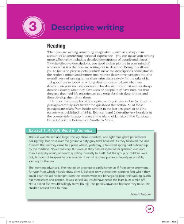Free Descriptive Writing Book