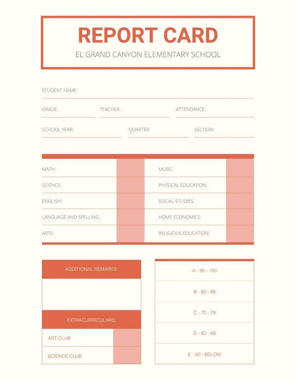 12  school report templates