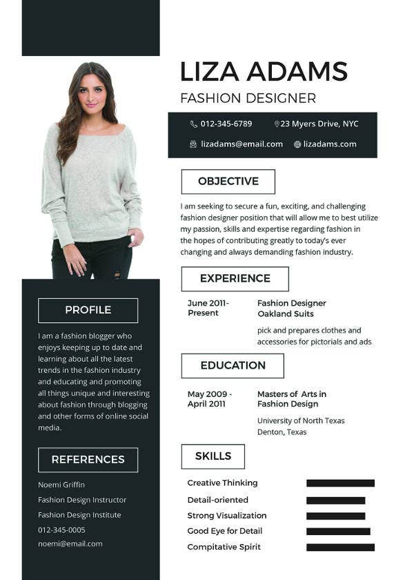 Mac resume template 32 free samples examples format for Fashion designing templates free download