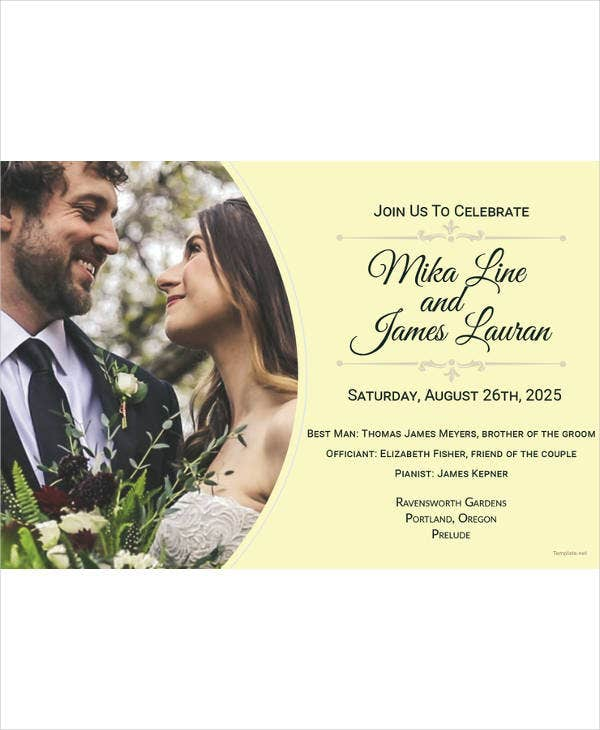 free floral wedding invitation template