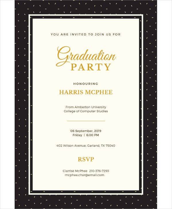 free graduation invitation example