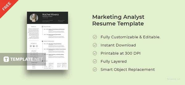 Free Marketing Analyst Resume