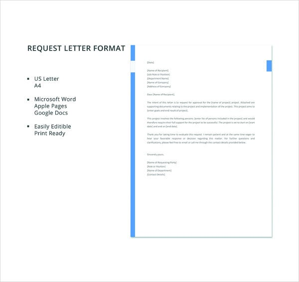 free request letter format