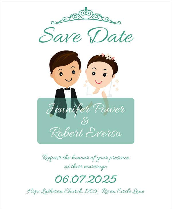 free save the date invitation template