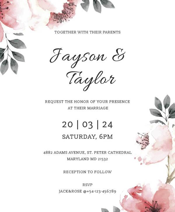 free vintage wedding invitation example