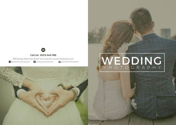 free wedding photography bi fold brochure