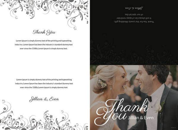 Free Wedding Thank You Card Template