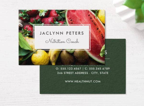Fresh Fruit Business Card Template