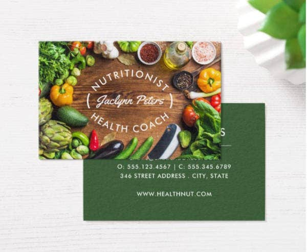 fresh vegetable business card template