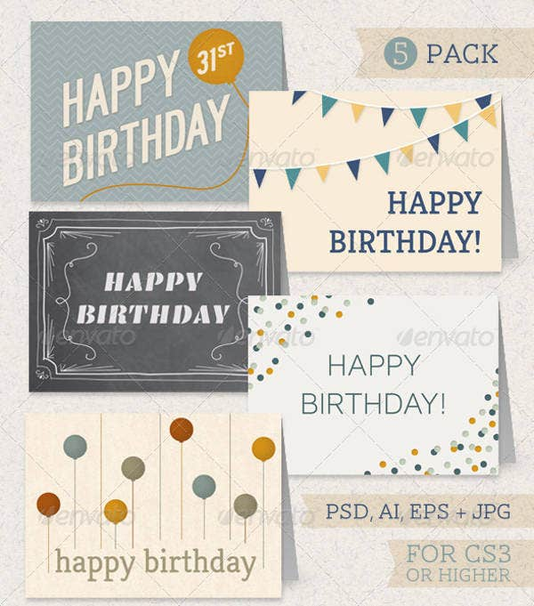 Friend Birthday Greeting Card Pack