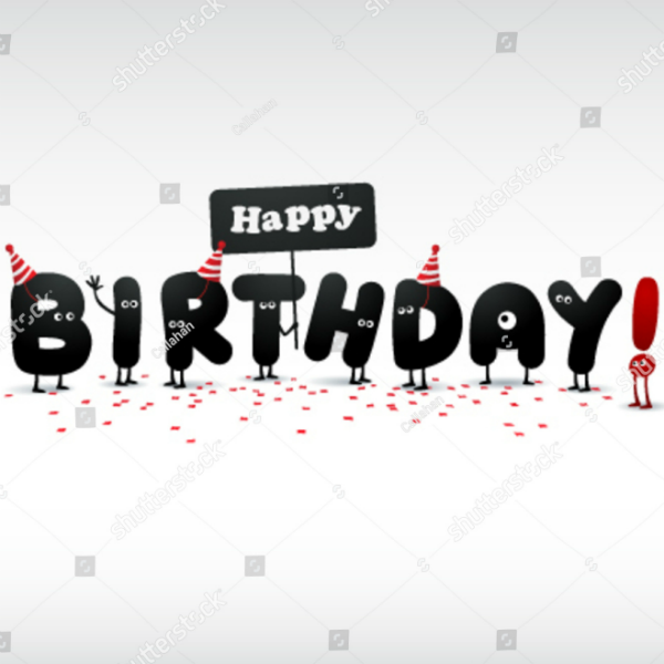 Funny Letters Personalized Birthday Card Template