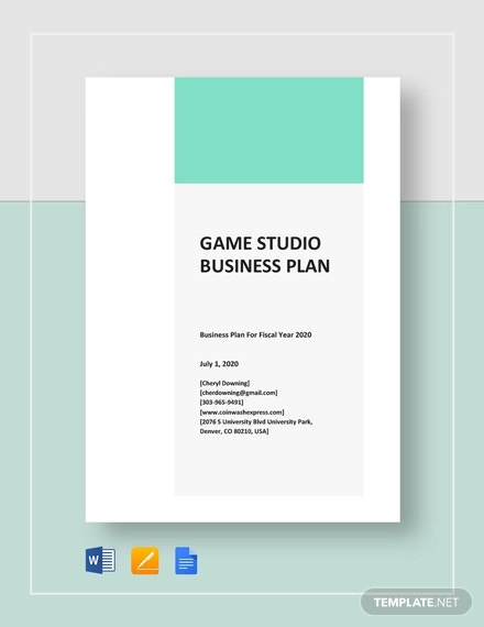 game studio business plan template