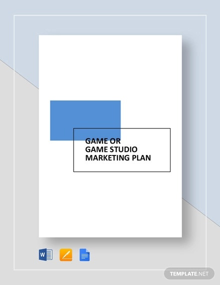 game or game studio marketing plan template